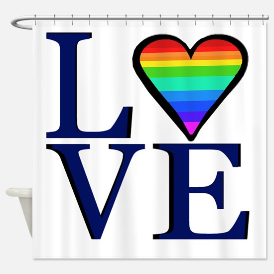 Rainbow Love Shower Curtain