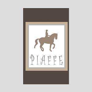 Piaffe Rider in Brown/Tan Rectangle Sticker