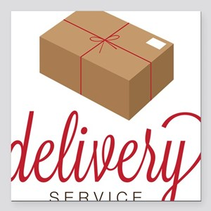 """Delivery Square Car Magnet 3"""" x 3"""""""