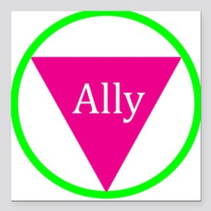 """Ally Square Car Magnet 3"""" x 3"""""""