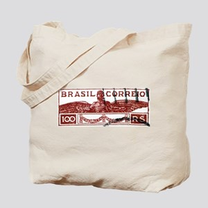 Antique 1933 Brazil Icarus Postage Stamp Tote Bag