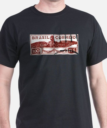 Antique 1933 Brazil Icarus Postage Stamp T-Shirt