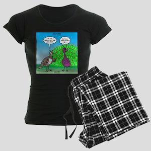 Peacock Preening Women's Dark Pajamas