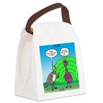 Peacock Preening Canvas Lunch Bag