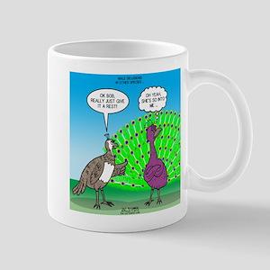 Peacock Preening Mug