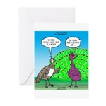 Peacock Preening Greeting Cards (Pk of 10)