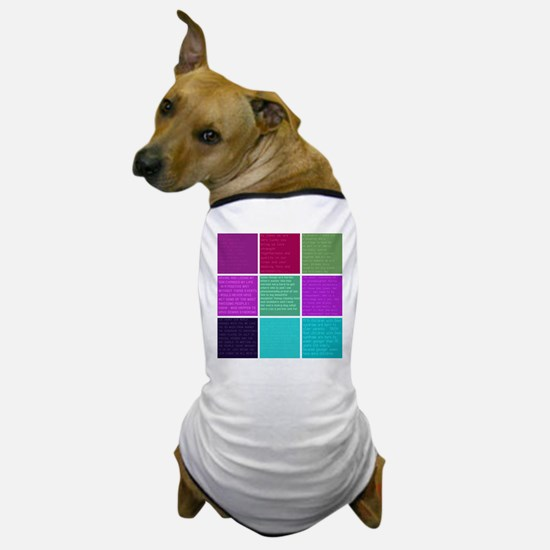 3x3 Blocks - Text from around the world Dog T-Shir