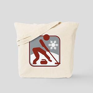 eisstockschiessen symbol Tote Bag
