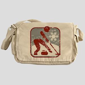 eisstockschiessen (used) Messenger Bag