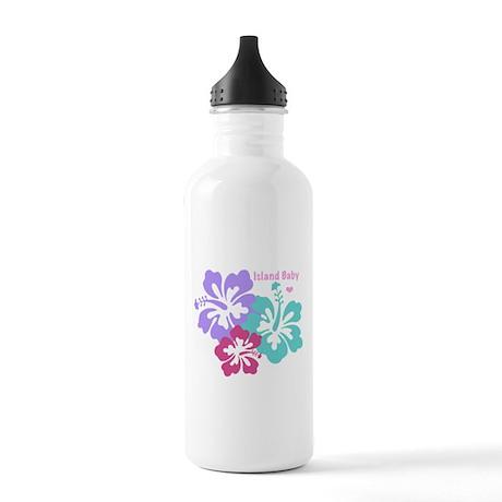 Island baby - pink Water Bottle