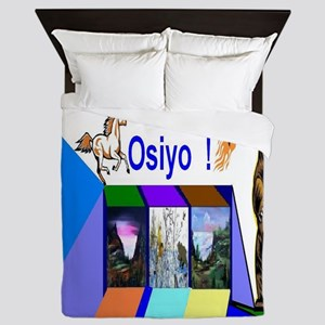 Native American Osiyo Queen Duvet
