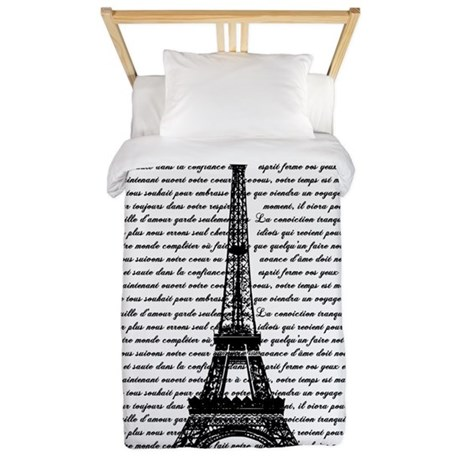 Vintage Eiffel Tower Twin Duvet
