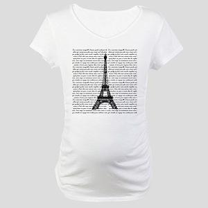 Vintage Eiffel Tower Maternity T-Shirt