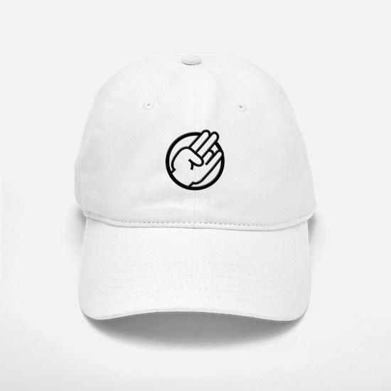 Black White Shocker Baseball Baseball Cap