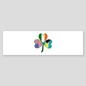 Shamrock of the Bahamas Sticker (Bumper)