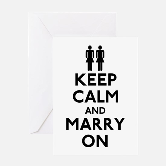 Lesbian Keep Calm and Marry On Greeting Card