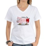 Battery Hog Women's V-Neck T-Shirt