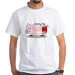 Battery Hog White T-Shirt
