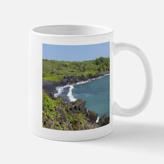 Black Sand Beach Maui Mug