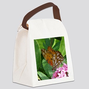 Passion Vine Butterfly Canvas Lunch Bag