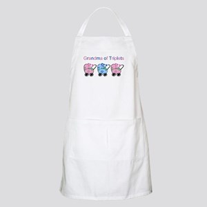 Grandma of Triplets (Girls & Boy) BBQ Apron