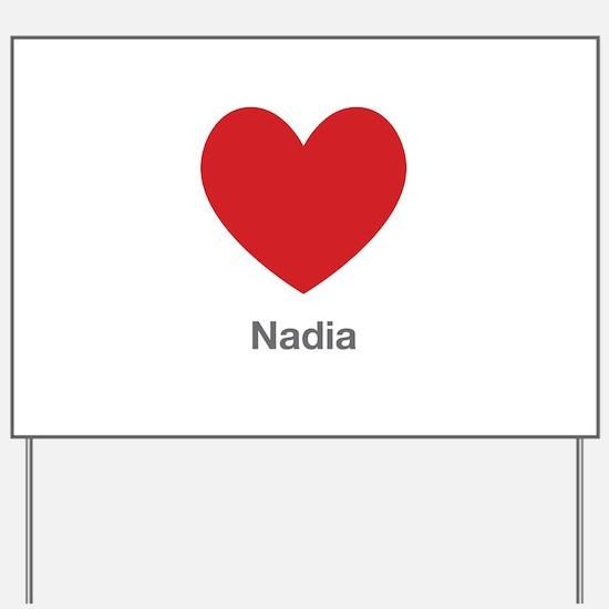 Nadia Big Heart Yard Sign