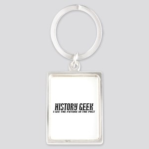 History Geek Future in Past Portrait Keychain