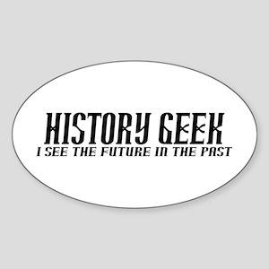 History Geek Future in Past Sticker