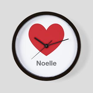 Noelle Big Heart Wall Clock