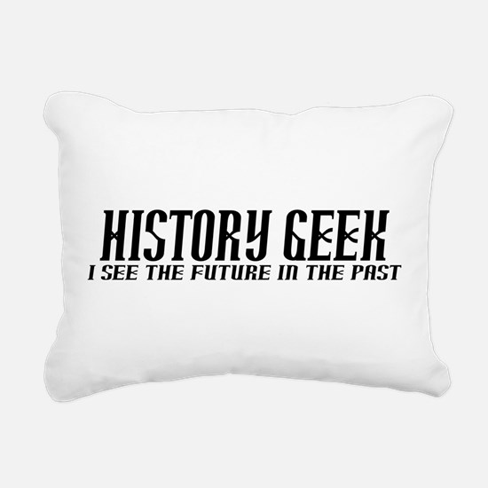 History Geek Future in Past Rectangular Canvas Pil