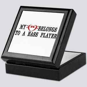 My Heart Belongs to a Bass Player Keepsake Box