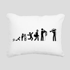 Reporter Rectangular Canvas Pillow