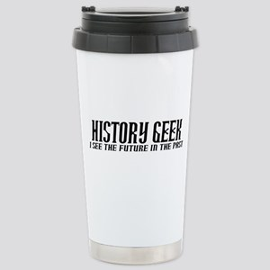 History Geek Future in Past Travel Mug