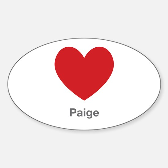 Paige Big Heart Decal