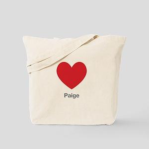 Paige Big Heart Tote Bag