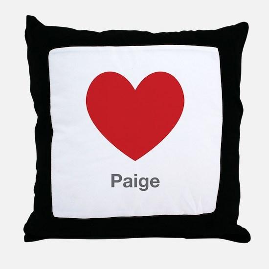 Paige Big Heart Throw Pillow