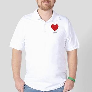 Paige Big Heart Golf Shirt
