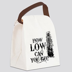 How Low Can You Go? Canvas Lunch Bag