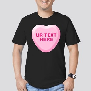 Banana Candy Heart Personalized Men's Fitted T-Shi