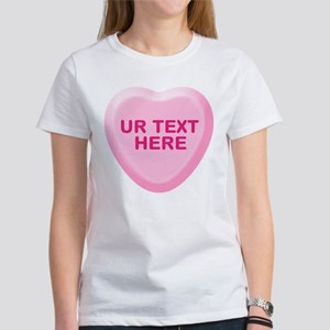 Banana Candy Heart Personalized Women's T-Shirt