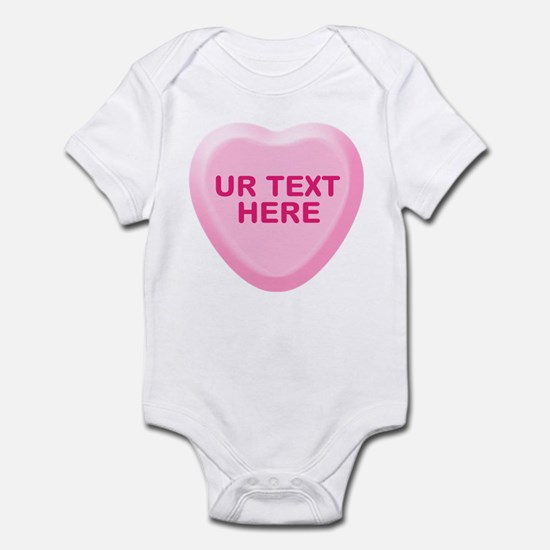 Banana Candy Heart Personalized Infant Bodysuit