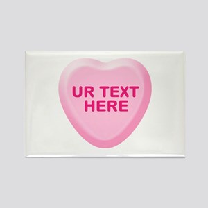 Banana Candy Heart Personalized Rectangle Magnet (