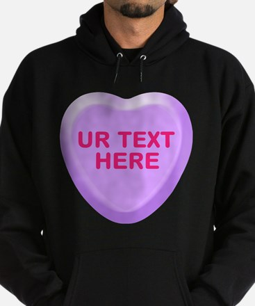 Grape Candy Heart Personalized Hoodie (dark)