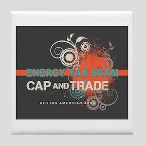 Energy Tax Scam Tile Coaster