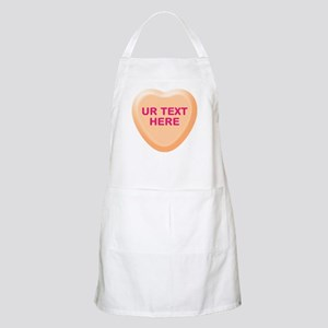 Orange Candy Heart Personalized Apron