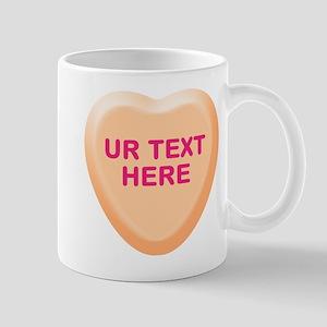Orange Candy Heart Personalized Mug