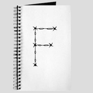 Barbed Wire Monogram F Journal