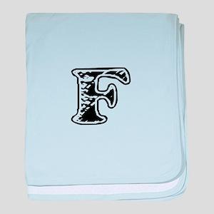 Scribbled Monogram F baby blanket