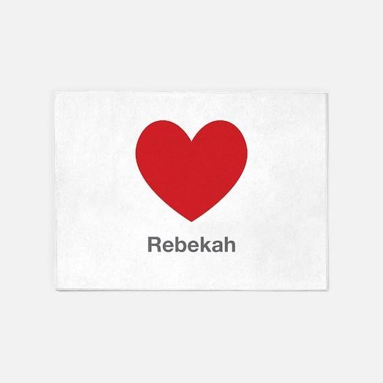 Rebekah Big Heart 5'x7'Area Rug