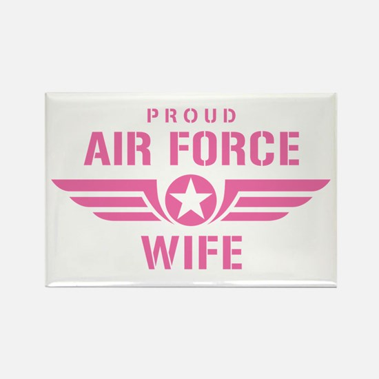Proud Air Force Wife W [pink] Rectangle Magnet